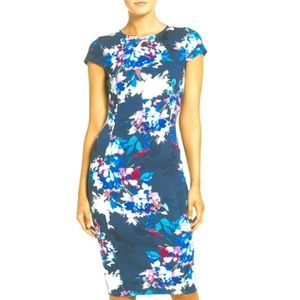 Felicity & Coco Floral Ponte Sheath Dress